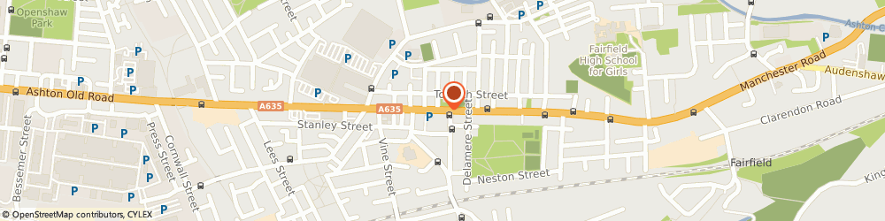 Route/map/directions to Photoscreen, M11 1JU Manchester, 1378 Ashton Old Road