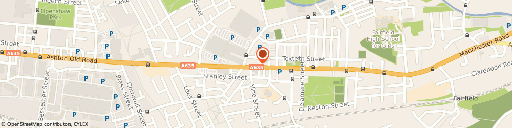 Route/map/directions to Peppers, M11 1JS Manchester, 1317 Ashton Old Road