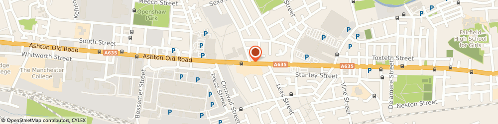 Route/map/directions to J K'S AUTO CENTRE, M11 1AA Manchester, 1119 ASHTON OLD RD