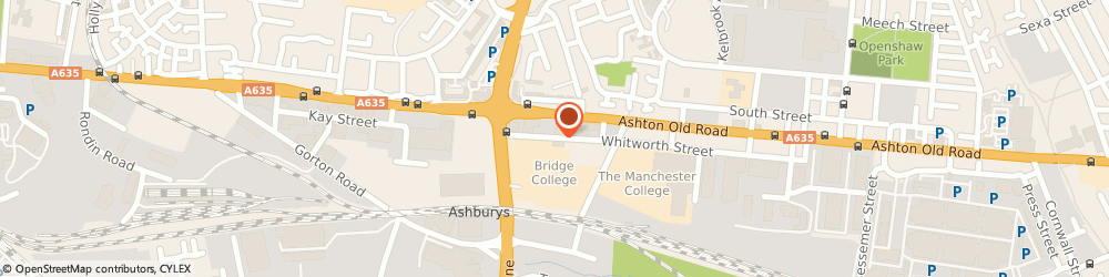 Route/map/directions to Bridge College, M11 2GR Manchester, Whitworth St, Openshaw