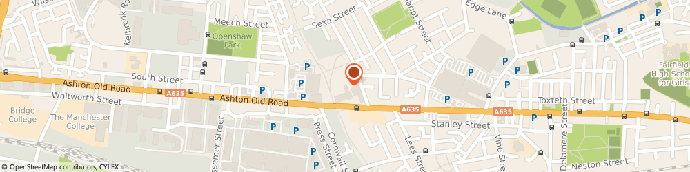 Route/map/directions to Ideal, M11 1AA Manchester, 1119 Ashton Old Rd