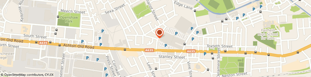 Route/map/directions to Fairfield Tyres, M11 1DD Manchester, 143 Old Lane