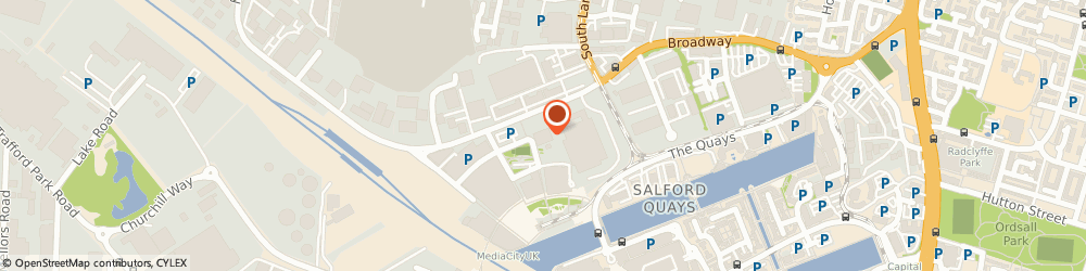 Route/map/directions to S J MEDIA GROUP LIMITED, M50 2EQ Salford, The Greenhouse, Broadway