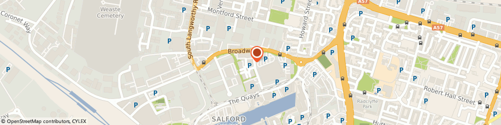 Route/map/directions to British Red Cross, M50 2GT Salford, Bradbury House, Ohio Avenue, Salford Quays