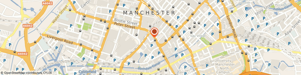 Route/map/directions to Connected Claims, M12 6JH Manchester, Peter House, 1 Oxford Street