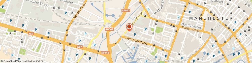 Route/map/directions to Porcelanosa, M3 4JU Manchester, WATER ST