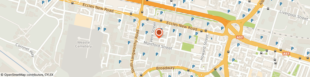 Route/map/directions to Handpicked Commercial Interiors Ltd, M50 2PQ Salford, Unit 8, The Cobden Centre, Vere St