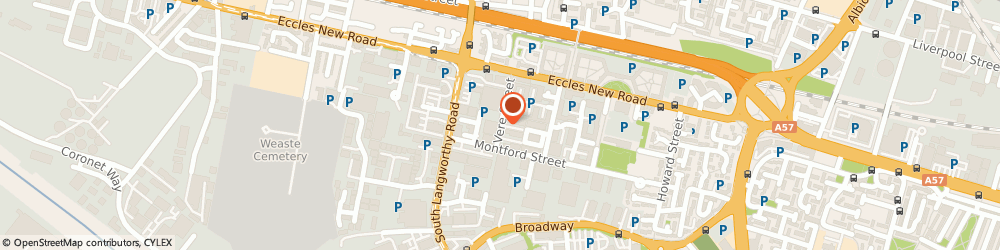 Route/map/directions to Hope Textiles Limited, M50 2PQ Salford, Unit 12, Vere Street