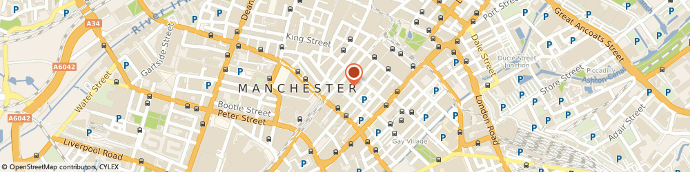 Route/map/directions to Fresh Cut, M2 3HR Manchester, 75 Mosley Street