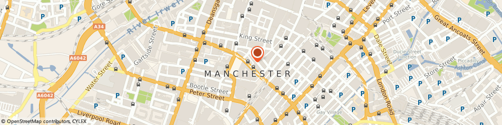 Route/map/directions to Contemporary Six - The Gallery, M2 4FN Manchester, 37 Princess St
