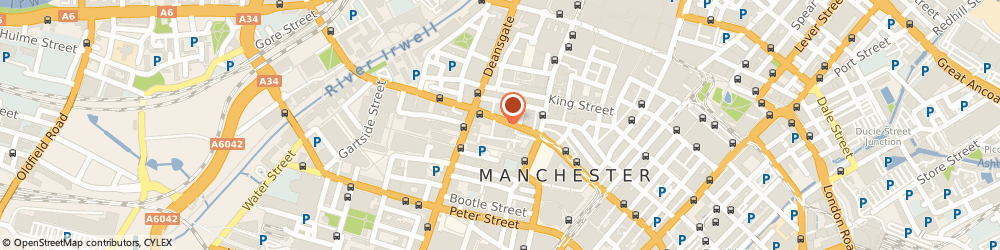Route/map/directions to Restaurant Bar and Grill Limited, M2 6JR Manchester, 14 John Dalton St, Ridgefield House