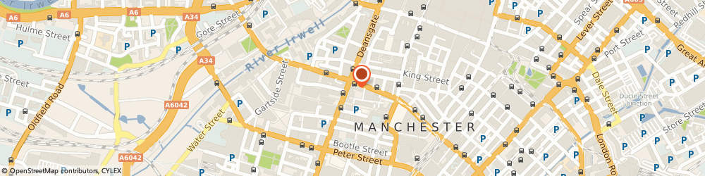 Route/map/directions to Menswear & Womenswear Agency, M3 2AB Manchester, 121 Deansgate