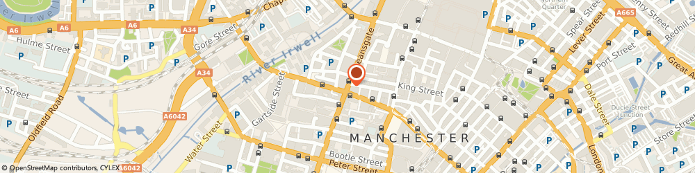 Route/map/directions to William Hill, M3 2BY Manchester, 125 Deansgate