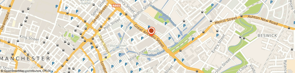Route/map/directions to Manchester Mailing Address, M4 6DE Manchester, 132 -134 GREAT ANCOATS STREET