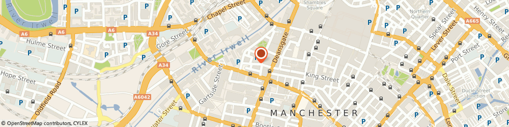 Route/map/directions to Flannagans, M3 2PW Manchester, 41 King Street West