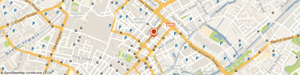 Route/map/directions to Fatsoma Limited, M1 1FN Manchester, 6TH FLOOR THE HIVE, 47-49 LEVER STREET