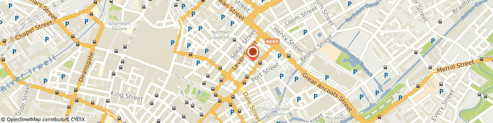 Route/map/directions to Studio Bee Ltd, M1 1BE Manchester, 14-16 Faraday St