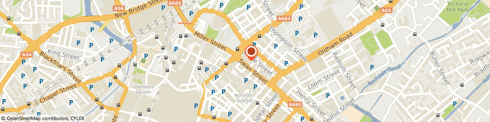 Route/map/directions to Hair Fiber, M4 5JU Manchester, 58 Swan St