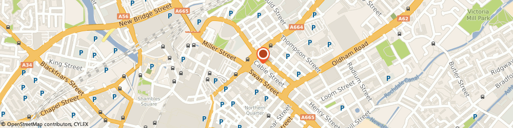 Route/map/directions to Active Aluminium Systems Ltd, M4 5DF Manchester, 55 Cable Street