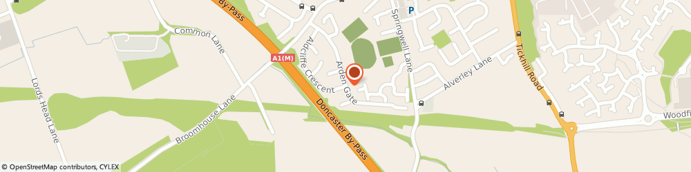 Route/map/directions to Atkinsons Print, DN4 9DW Doncaster, 43 Arden Gate