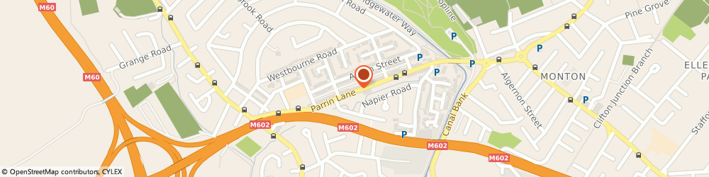 Route/map/directions to Trafford Contractors, M30 8BX Manchester, Hamilton Mews Parrin Lane