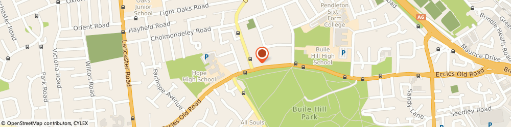 Route/map/directions to DR JULIE CASSIDY - Hope Dental Practice, M6 8QQ Salford, 146 Eccles Old Road