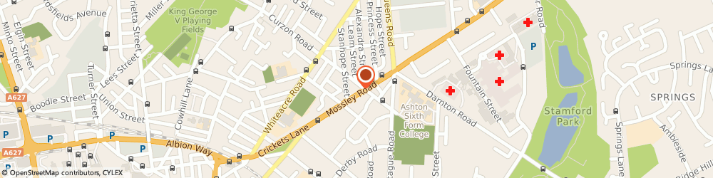 Route/map/directions to Leighton House, OL6 6NA Ashton-Under-Lyne, 150 Mossley Rd