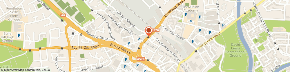 Route/map/directions to RFM TRADING LTD, M6 6LS Salford, 10 Broughton Road