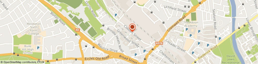 Route/map/directions to Glendale Frozen Foods Ltd, M6 6WF Salford, Glendale House, Cobden Street