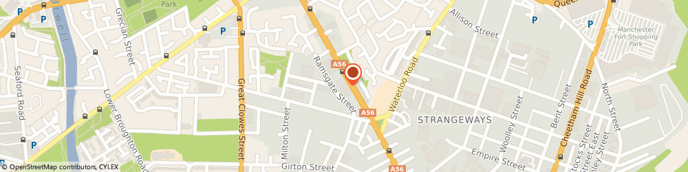 Route/map/directions to Grosvenor Casino, M8 9SG Manchester, 2 Ramsgate Street