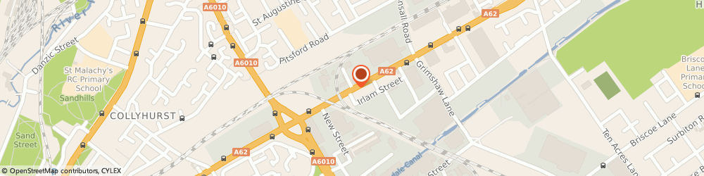 Route/map/directions to Manchester Kitchens Bedrooms & Fire Surrounds, M40 5AE Manchester, 1 BECKFORD STREET