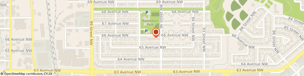 Route/map/directions to Hazeldean Bakery, T6E 0M2 Edmonton, 9627 66 Ave NW