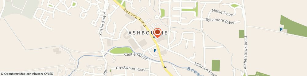 Route/map/directions to Asbourne Glass and Glazing Limited,  Ashbourne, UNIT 3 GARDEN CITY SHOPPING CENTRE