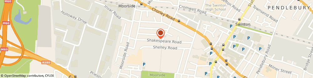 Route/map/directions to Furry Charm, M27 9PZ Manchester, 68 Shakespeare Rd