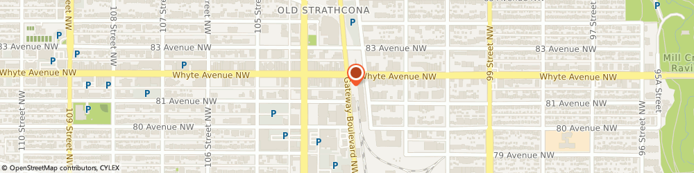 Route/map/directions to Movie Poster Shop, T6E 4B1 Edmonton, 8126 Gateway Blvd Nw
