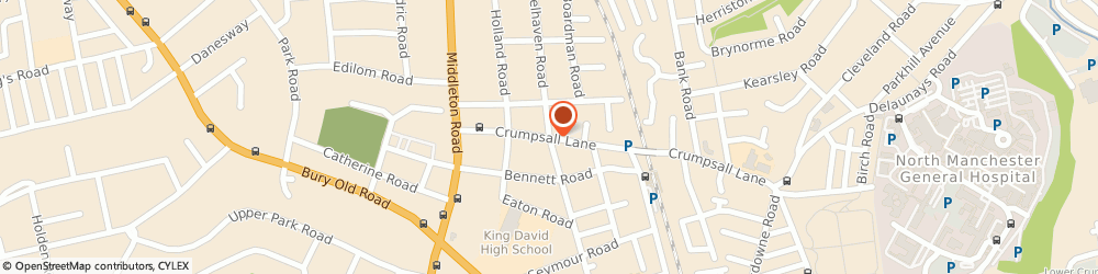 Route/map/directions to Venesta Domiciliary Care Agency - Manchester, M8 4ED Manchester, Crumpsall Lane