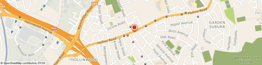 Route/map/directions to Post Office Limited, OL8 4SA Oldham, 730 Hollins Road