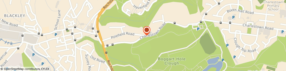 Route/map/directions to Polefield Nursing Home, M9 7EN Manchester, 77 Polefield Road