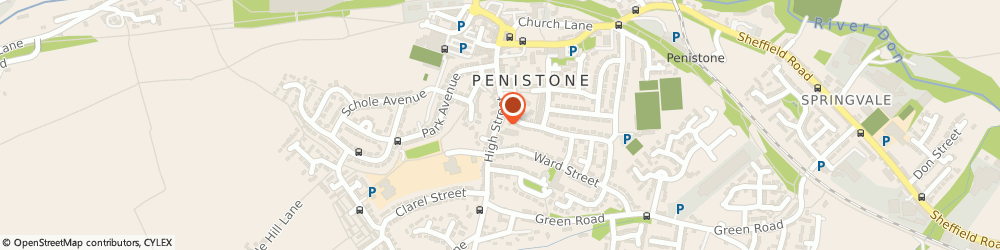 Route/map/directions to Cards & Gifts, S36 6BR Sheffield, 5 High St, Penistone