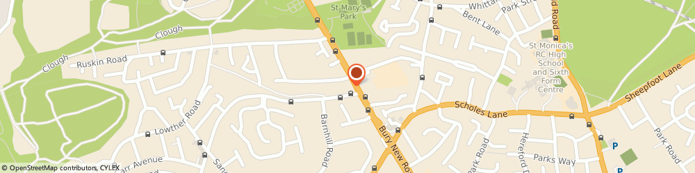 Route/map/directions to Care Assured, M25 9ND Manchester, 171 Bury New Road