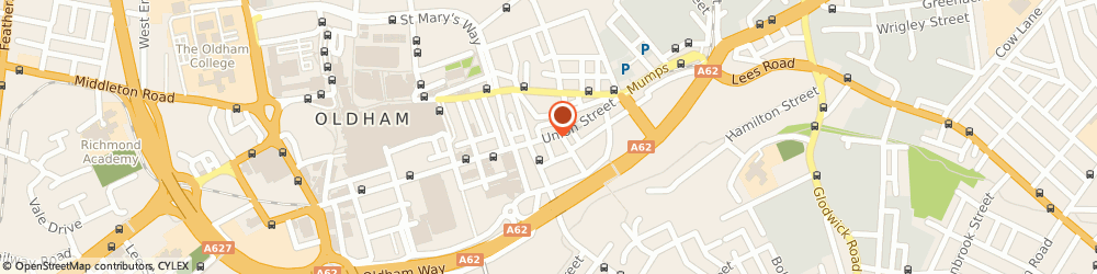 Route/map/directions to Aroosa Cafe, OL1 1QH Oldham, 103 Union Street