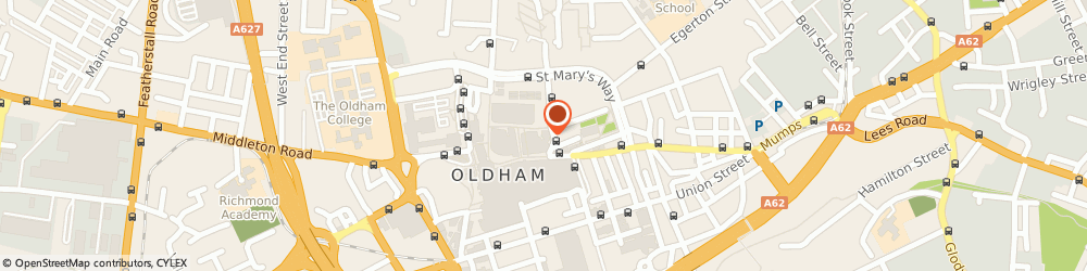 Route/map/directions to Post Office Limited, OL1 3HP Oldham, 3-5 Lord Street