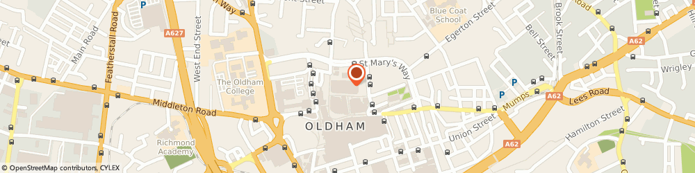 Route/map/directions to R & B Curtain Rail, OL1 3BG Oldham, Stall 175-179 Market Hall/Albion St
