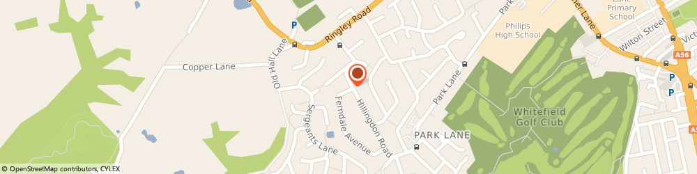 Route/map/directions to Mothshire Limited, M45 7QN Whitefield, 6 HILLINGDON ROAD