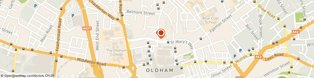 Route/map/directions to The Blue Onion, OL1 1NH Oldham, 47 Henshaw Street
