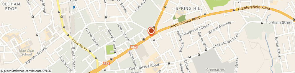 Route/map/directions to Best View Blinds, OL1 3PA Oldham, 185a Huddersfield Rd