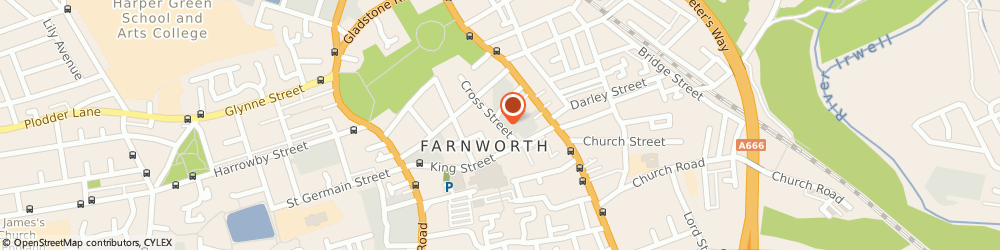 Route/map/directions to Age Concern Ltd, BL4 7AG Farnworth, Cross St, Farnworth