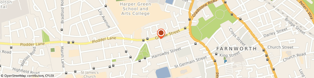 Route/map/directions to Lancashire Caterers, BL4 7DQ Farnworth, 155-157 GLYNNE STREET