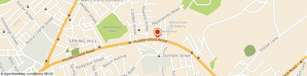 Route/map/directions to Post Office Limited, OL4 2JG Oldham, 503 Huddersfield Road