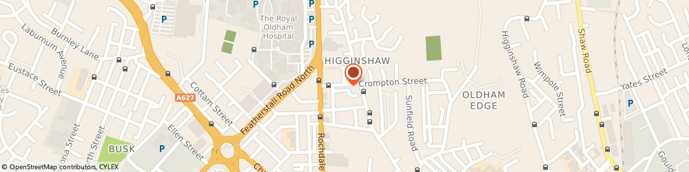Route/map/directions to Coldhurt Cafe, OL1 2LJ Oldham, 14 Crompton St